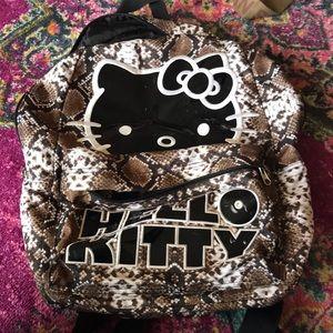 Snakeskin Hello Kitty backpack